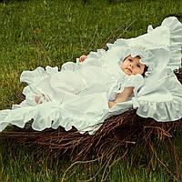 Платье Винтажное от Miminobaby белое от 6 до 12 месяцев