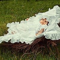 Платье Винтажное от Miminobaby белое от 3 до 6 месяцев