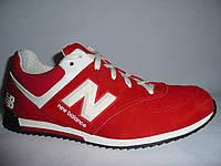 Мужские  кроссовки new balance, цвет красный.