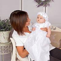 Детская рубашка Варвара от Miminobaby белая от 0 до 6 месяцев
