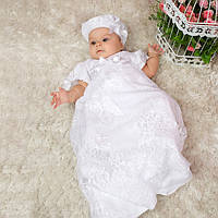 Детская рубашка Варвара от Miminobaby белая от 6 до 12 месяцев