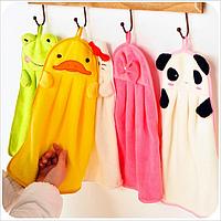 Детские полотенца для рук из микрофибры с забавными зверушками