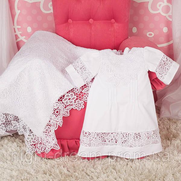 Крестильная рубашка Глаша (Глафира) от Miminobaby белая от 18 до 24 месяцев