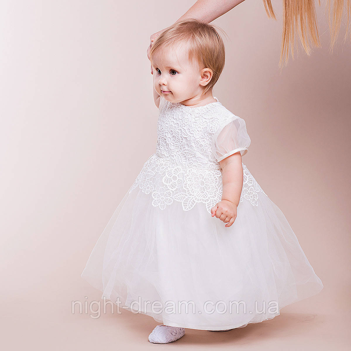 Нарядное платье Глафира от Miminobaby молочное от 12 до 18 месяцев