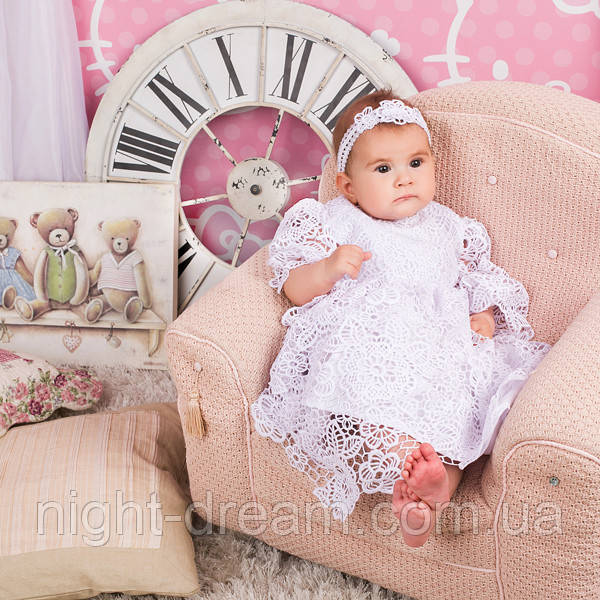 Нарядное платье Глория (Глафира) от Miminobaby белое от 6 до 12 месяцев