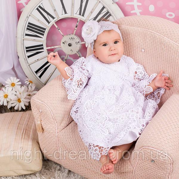 Нарядное платье Глория (Глафира) от Miminobaby белое от 12 до 18 месяцев