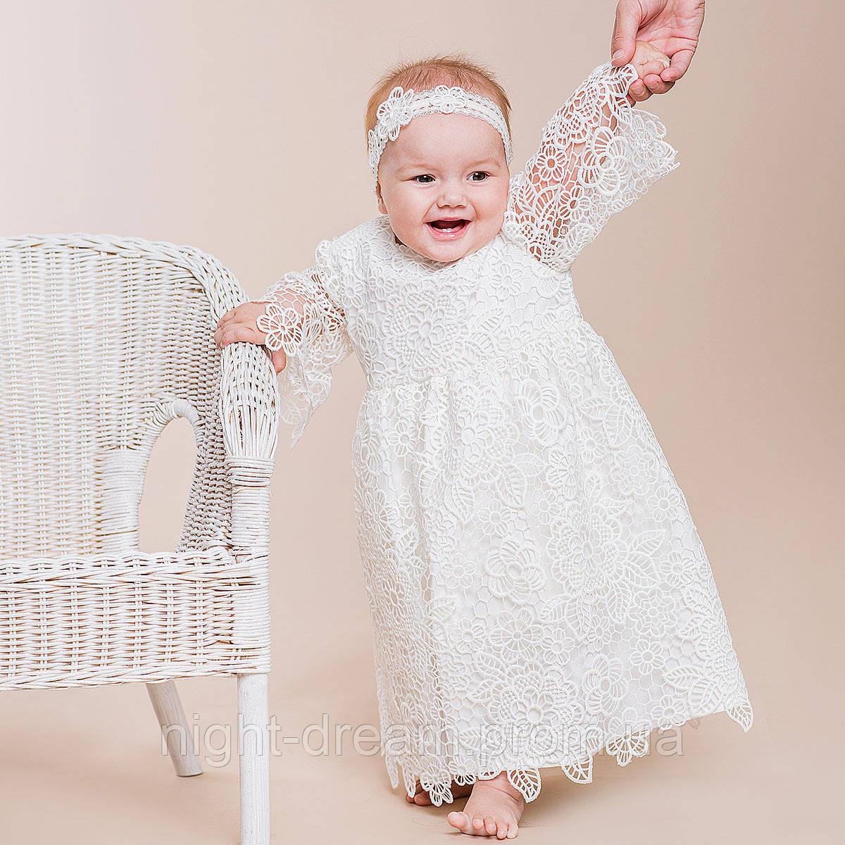 Нарядное платье Глория (Глафира) от Miminobaby молочное от 12 до 18 месяцев