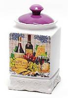 Банка керамическая 1000мл, серия Cheese&Wine
