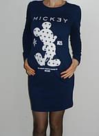 Платье с Микки Маусом спортивного стиля синее Eke Collection  Турция р. М