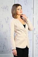 Женский повседневный удлиненный пиджак от производителя   Разные цвета Бежевый