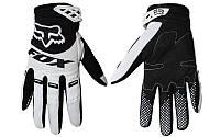 Мотоперчатки , вело рукавиці, закрытые FOX - 360 (р-р M, L, XL) , (w-black)