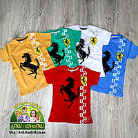 Брендовая футболка для мальчика Ferrari