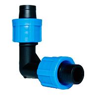Фитинг уголок зажимной для капельного полива Presto-PС ЕТ 0117 (50 шт в уп.)
