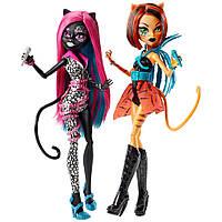 Набор из 2 кукол Монстер Хай серия Неистовые рокеры Monster High Fierce Rockers Catty Noir,Toralei 2-pack