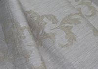 Серая льняная ткань с рисунком 100% лен ш.190 пл.235