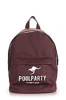 Молодежный рюкзак Poolparty (backpack-kangaroo-brown)