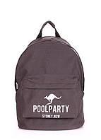 Молодежный рюкзак Poolparty (backpack-kangaroo-grey)