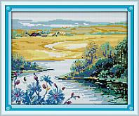 Красивый весенний сезон Набор для вышивки крестом с печатью на ткани 14ст