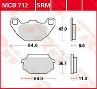 Тормозные колодки для мотоциклов и квадроциклов Kymco TRW / Lucas MCB712SRM