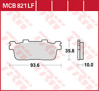 Комплект тормозных колодок для мотоциклов и скутеров Kymco TRW / Lucas MCB821SRM