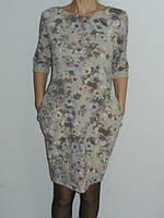 Нежное коттоновое платье беж цветочный принт Fashion Турция р. L, XL