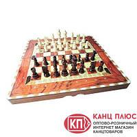 Шахматы и нарды из дерева, в футляре из дерева, лакированный арт. W5009D