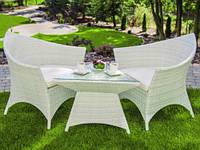 Набір меблів з штучного ротангу. 2 крісла + столик