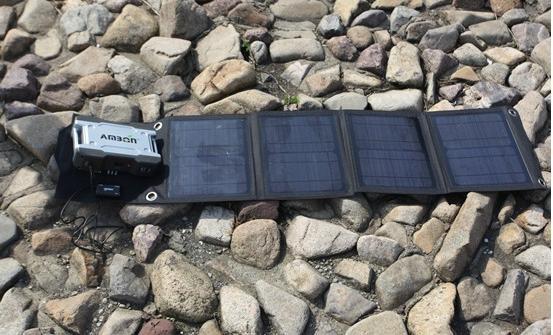 Портативное солнечное зарядное устройство  AM-SF40