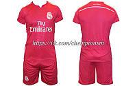 Футбольная форма Реал Мадрид розовая безномерная 2014/2015