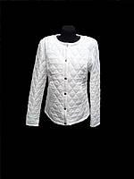 Куртка демисезонная белая женская 44-52 р-р