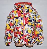 Демисезонная куртка-трансформер для девочки 2-10 лет желтая