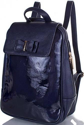 Лакированный женский рюкзак из искусственной кожи на 7 л МІС MS35204-6