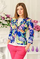 Яркий молодежный пиджак с цветочным принтом | Весна-Лето 2016