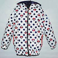 Демисезонная куртка-трансформер для девочки 2-10 лет белая