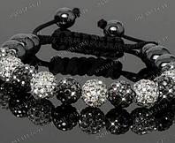 Браслет Шамбола, браслеты бижутерия, наполните свой мир прекрасным!Красивые, черно-белый или розовый с белым