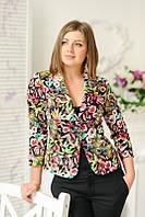 Стильный молодежный пиджак с цветочным принтом от производителя