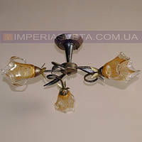 Кованая люстра под старину IMPERIA трехламповая LUX-531540