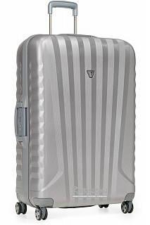 Большой пластиковый 4-колесный чемодан 95 л. Roncato UNO SL 5141/02/25 серебристый