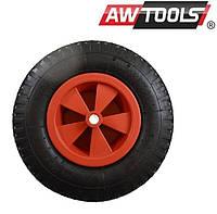Колесо для тачки садовой пневматической 350мм пластиковое колесо шина 2-полотно красные AWTOOLS