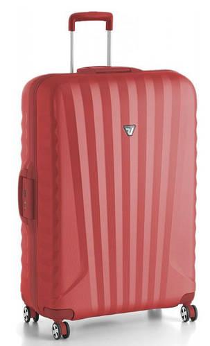 Дорожный практичный пластиковый чемодан 75 л. Roncato UNO SL 5142/09/09 красный