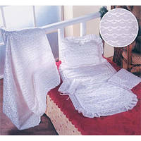 Белоснежный набор для новорожденного (сатин) - идеальный вариант на выписку из роддома или крещение