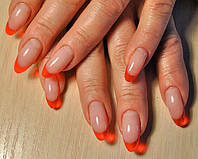 """Нарощування нігтів гелем """"Color френч"""", Салон-перукарня «Доміно» Львiв (Сихів), фото 1"""