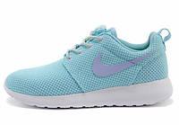 Женские кроссовки Nike Roshe Run, найк роше ран голубые