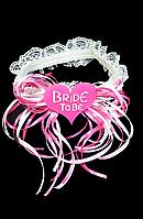 Свадебная подвязка белая
