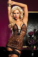 Леопардовый пеньюар с декольте