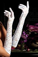 Ажурные белые перчатки