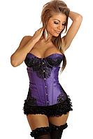 Фиолетовый корсет с кружевом