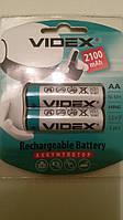 Аккумулятор батарейка Videx 2100mAh  AA (2шт)