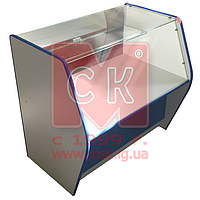 """Торговый прилавок-витрина полуоткрытый """"Классик"""" из стекла и ламинированного ДСП"""