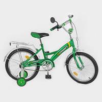 """Велосипед PILOT детский 18""""  зелено-белый"""